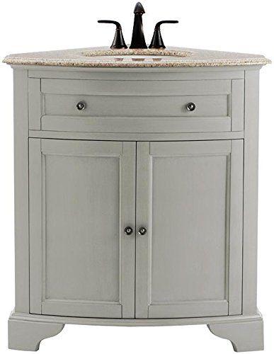 Amazon 599 Hamilton Corner Vanity 35 Hx31 Wx23 D Grey Home Decorat Bath Vanities Corner Vanity Vanity
