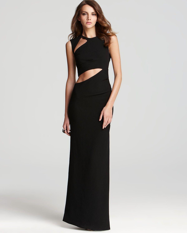 GIMME. BCBGMAXAZRIA Gown - Sleeveless Cutout | Bloomingdale\'s ...