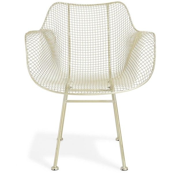 Mesh Silver Chair (827.990 COP) ❤ liked on Polyvore
