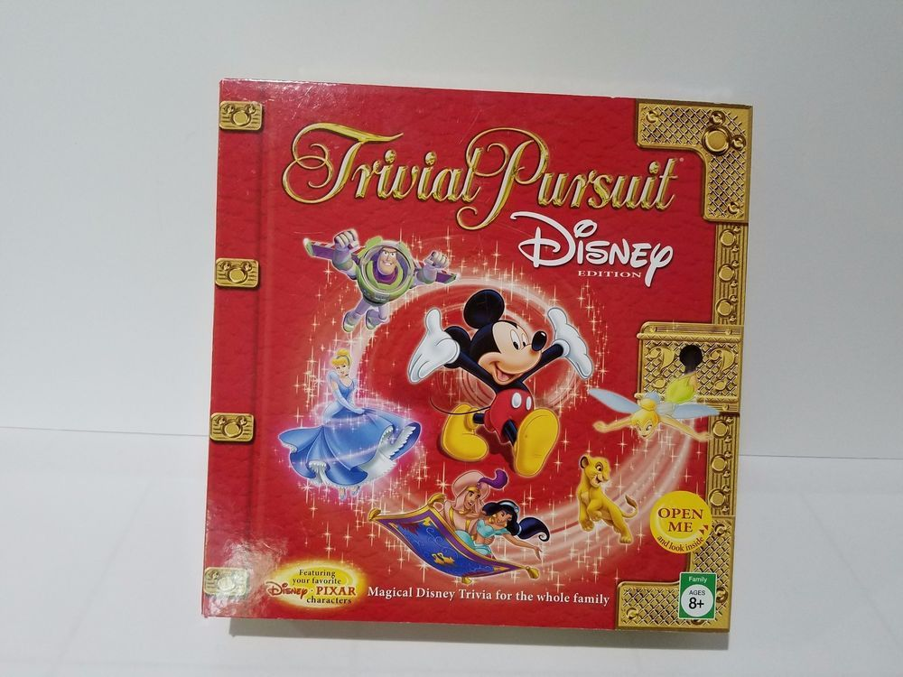 Trivial Pursuit Disney Edition Red Box Disney Pixar Complete Board Game Hasbro Disney Facts Game Sales Trivial Pursuit