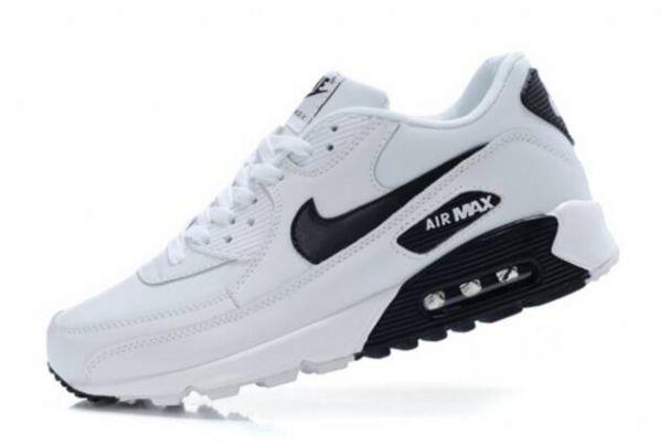 nike air max 90 white and black