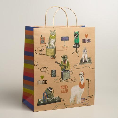 Jumbo Hipster Animals Gift Bag Hipster Animals Pet Gifts Gift Bag