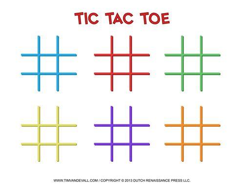 TicTacToe Templates  Classroom Games    Tic Tac Toe