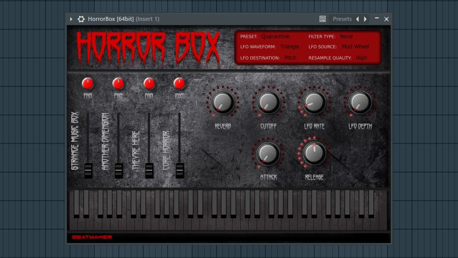Free Horror Box Rompler Instrument Plugin By Beatmaker Released