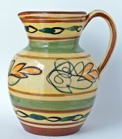 Nice quality Hartley Hartrox Pottery Jug. Castleford Yorkshire UK. Circa 1953 to 1960.  http://preview01.create.net/siteimages/15/1/7/151756/93/9/8/9398653/176x200.jpg?1417966000""