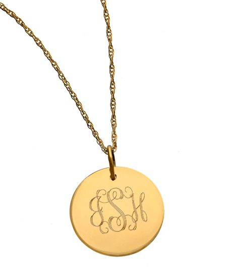 West avenue jewelry monogram disk pendant beautiful jewlery west avenue jewelry monogram disk pendant mozeypictures Choice Image