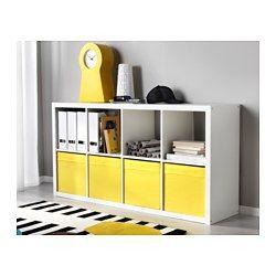 IKEA - KALLAX, Hylly, valkoinen, , Voidaan sijoittaa pystyyn tai vaakatasoon, sopii hyllyksi tai senkiksi.