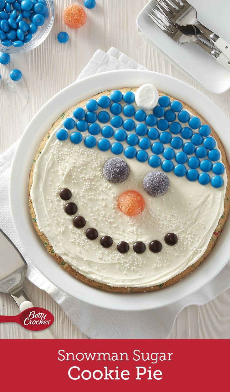 Snowman Sugar Cookie Pie