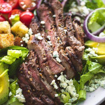 Black n' Blue Grilled Steak Salad | Creme De La Crumb #grilledsteakmarinades