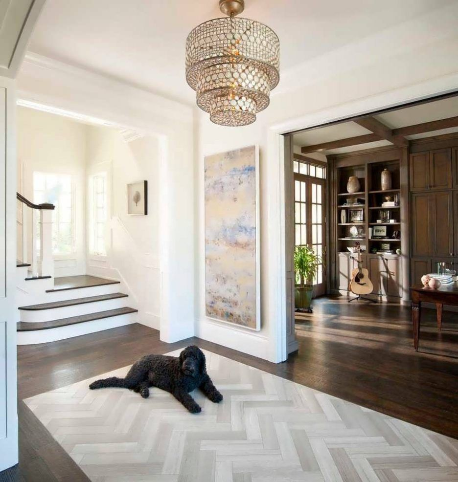 Transitional Foyer Hallway: Hallway Lighting: Large Entryway Pendant Lighting Entry