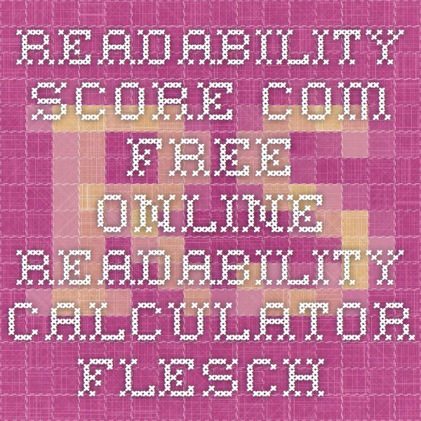 Readability checker flesch kincaid grade level readability test.