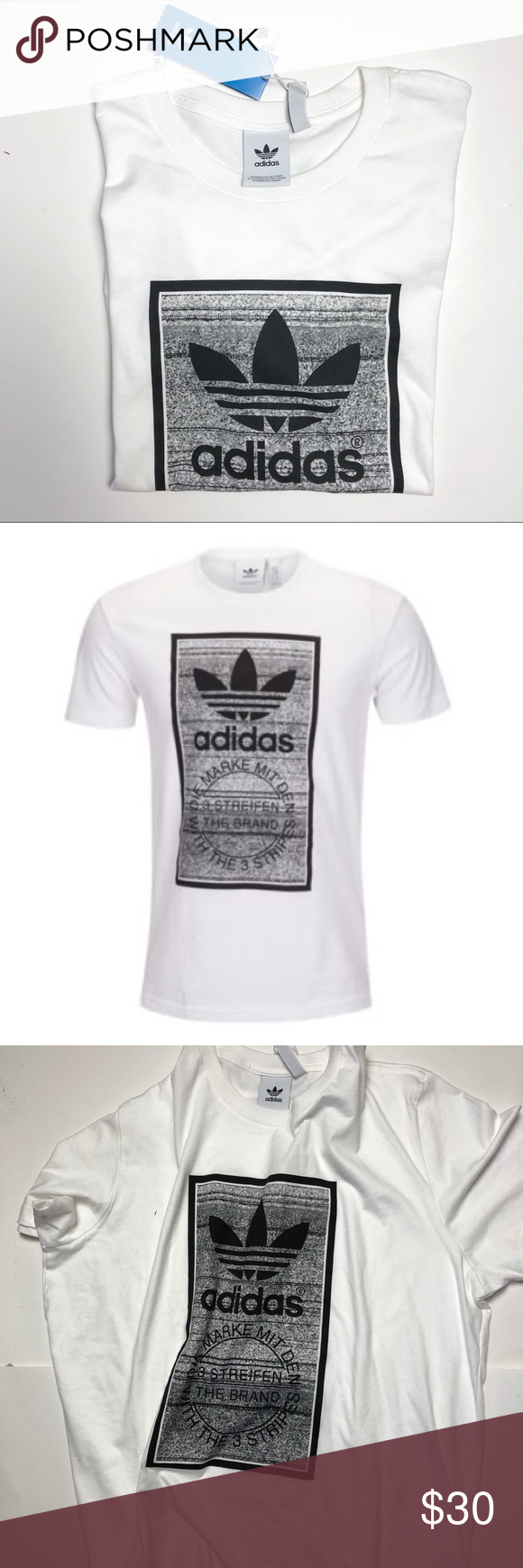 15b535f882f6 Men s adidas Originals Traction Tongue T-Shirt 2XL Sport some distinct  throwback style. The classic Trefoil on this t-shirt features a warped  pattern ...