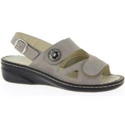 Sandaletten für Damen Varomed Leder/Stretch Isabell Kiesel Größe 42 Varomed