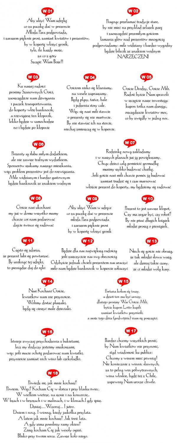 Wierszyki Na Zaproszenia Dużo Wzorów I Pomysłów Dekoracje W