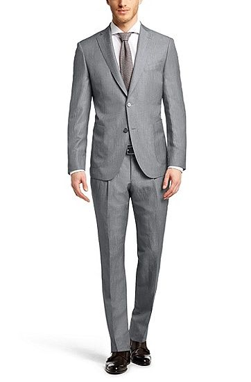 7f1c12ae0 HUGO BOSS - Slim-fit suit 'T-Hoven/Glayn' in a new-wool blend , Silver