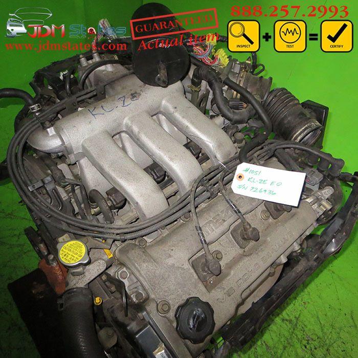 Jdm Mazda Kl V5 Dohc 24 Valve Long Block Kl Mazda 626 Mx 6 Engine Only 93 199 Mazda Jdm Engines Engineering