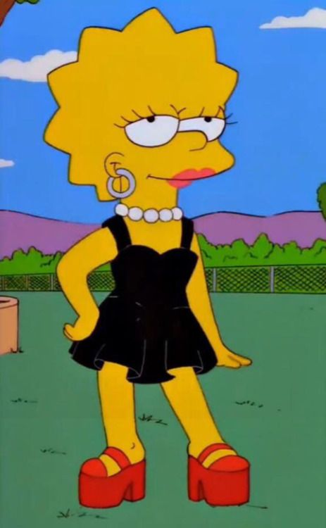 lisa simpson casual vs lisa simpson de gala Fondos de
