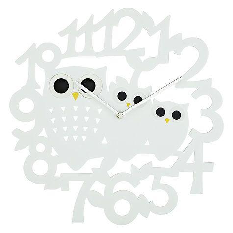 Buy John Lewis Orson Owl Wall Clock Dia40cm Online at johnlewis