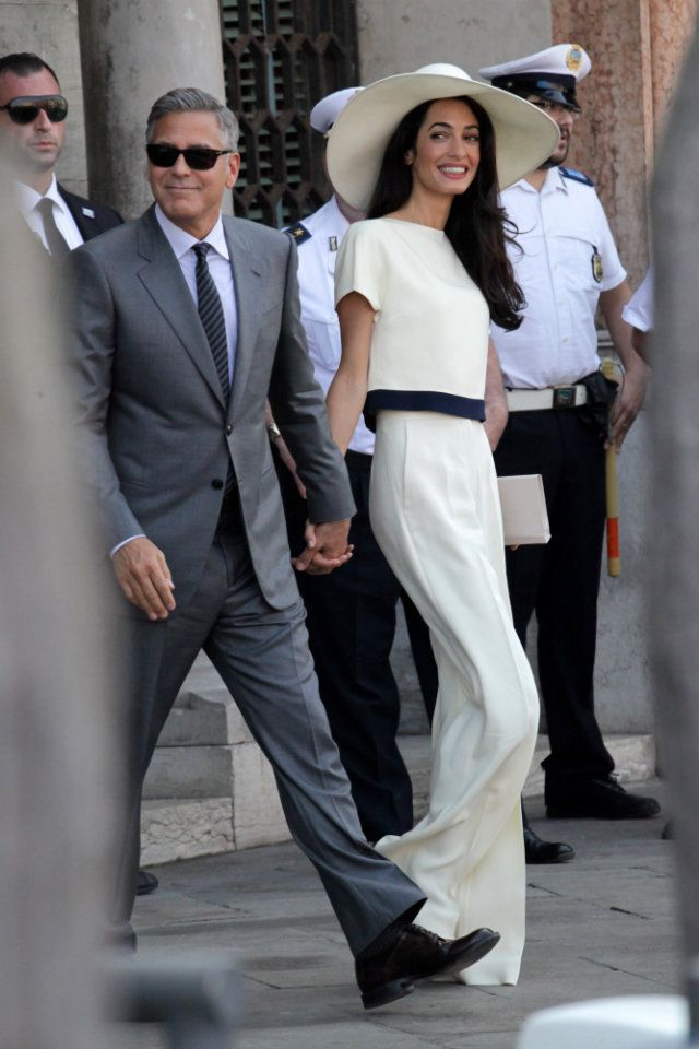 amal-alamuddin-wedding-dress-civil-ceremony-trousers | Celebrity ...