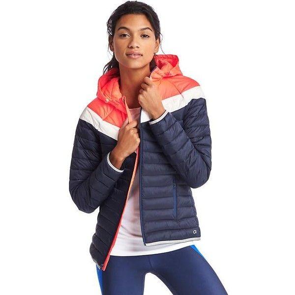 Gap Women Primaloft Chevron Zip Hooded Puffer Jacket ($76 ...