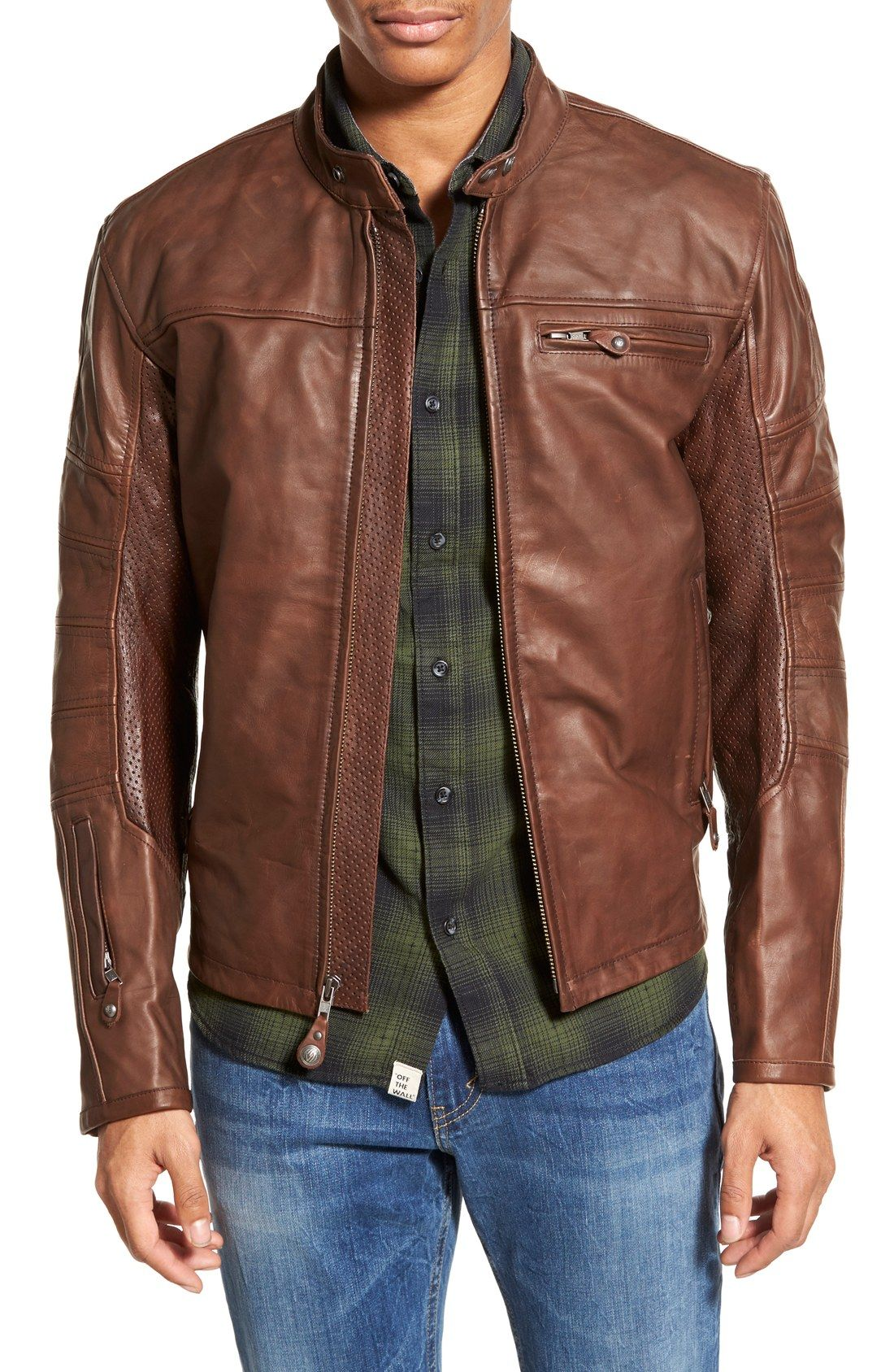 Roland Sands Design Ronin Cafe Racer Leather Jacket Nordstrom Cafe Racer Leather Jacket Real Leather Jacket Leather Jacket Men [ 1687 x 1100 Pixel ]