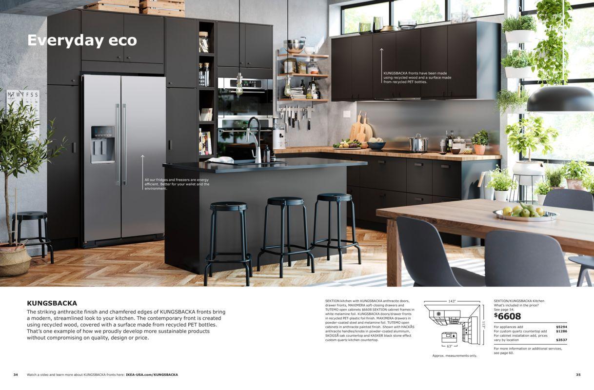 Everyday Eco Ikea Kitchen Brochure 2019 Recycled Kitchen Kitchen Interior Kitchen Inspirations