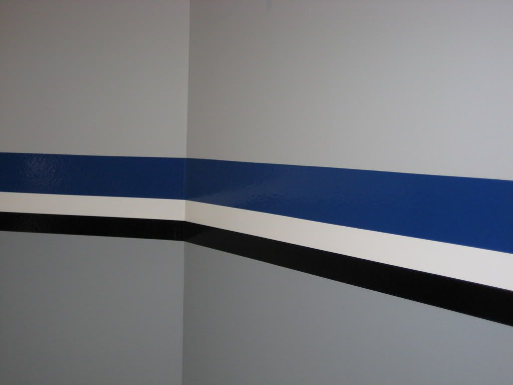 Interior Paint Stripes I Like The Gray Walls With The Black And White But Maybe A Different