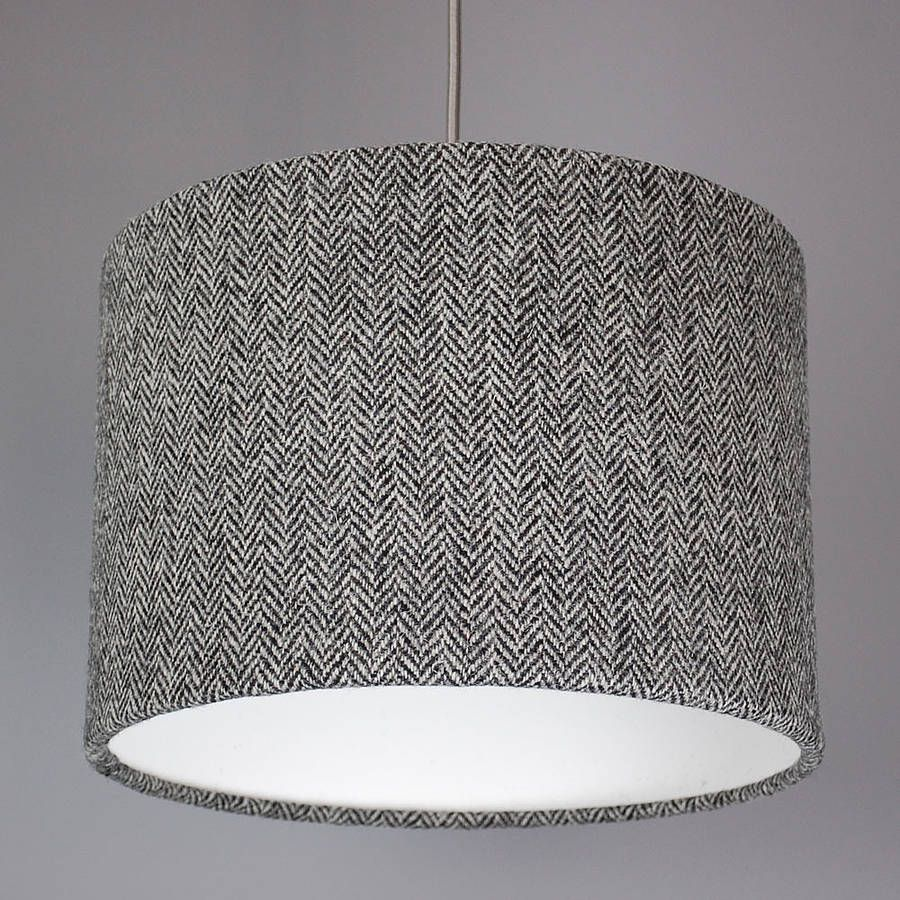 Dark grey herringbone harris tweed lampshade harris tweed dark grey herringbone harris tweed lampshade arubaitofo Gallery