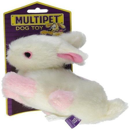 Multipet Look Whos Talking Plush Rabbit Dog Toy Products Dog