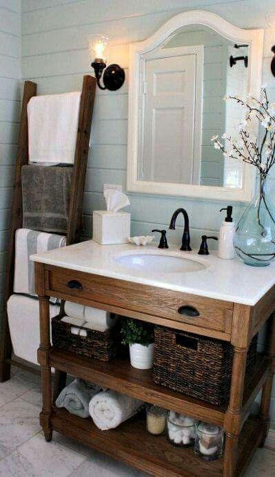 Rustic chic bathroom.   Bathroom Decor   Pinterest   Rustic chic ...