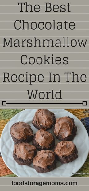 The Best Chocolate Marshmallow Cookies Recipe In The World #chocolatemarshmallowcookies