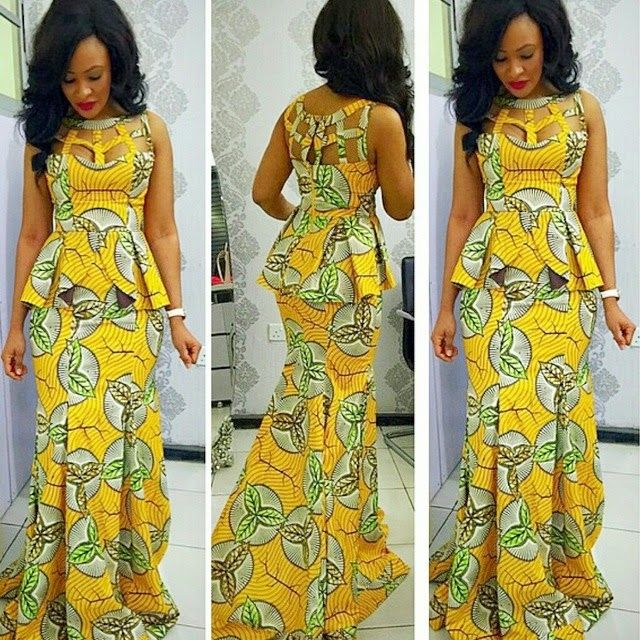 Image result for Ankara skirt and blouse style for wedding
