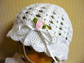 Taufmütze Traumweiß Rosa Röschen Mützen Pinterest Mütze