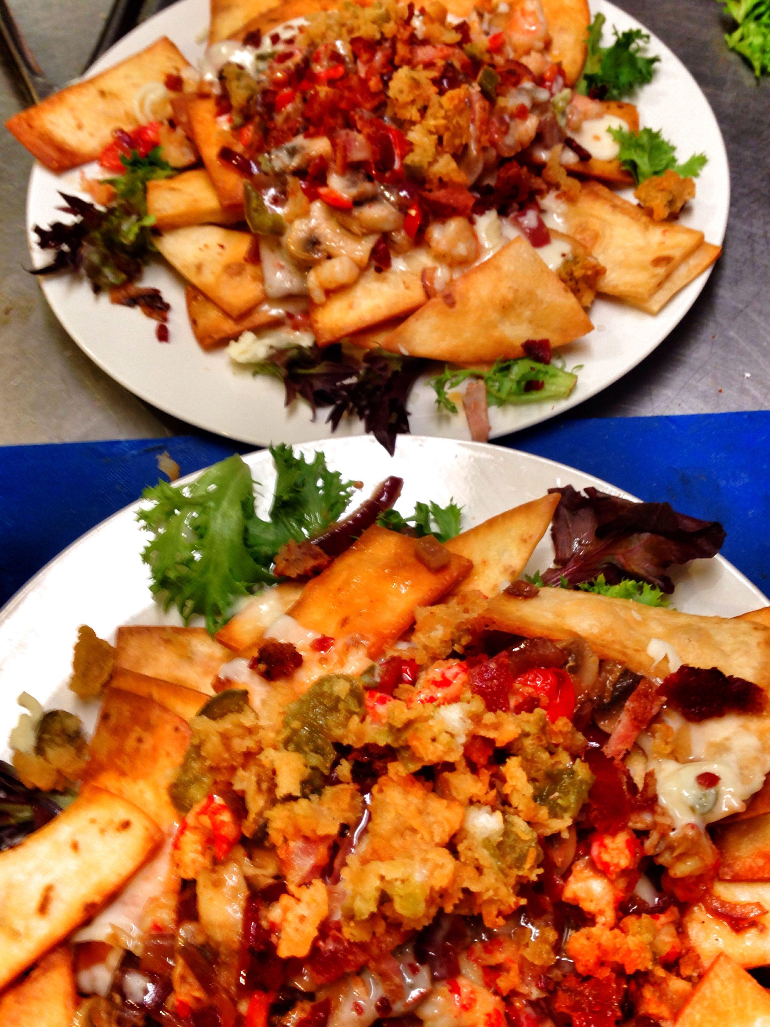 Crawfish nachos shrimp nachos cajun recipes seafood