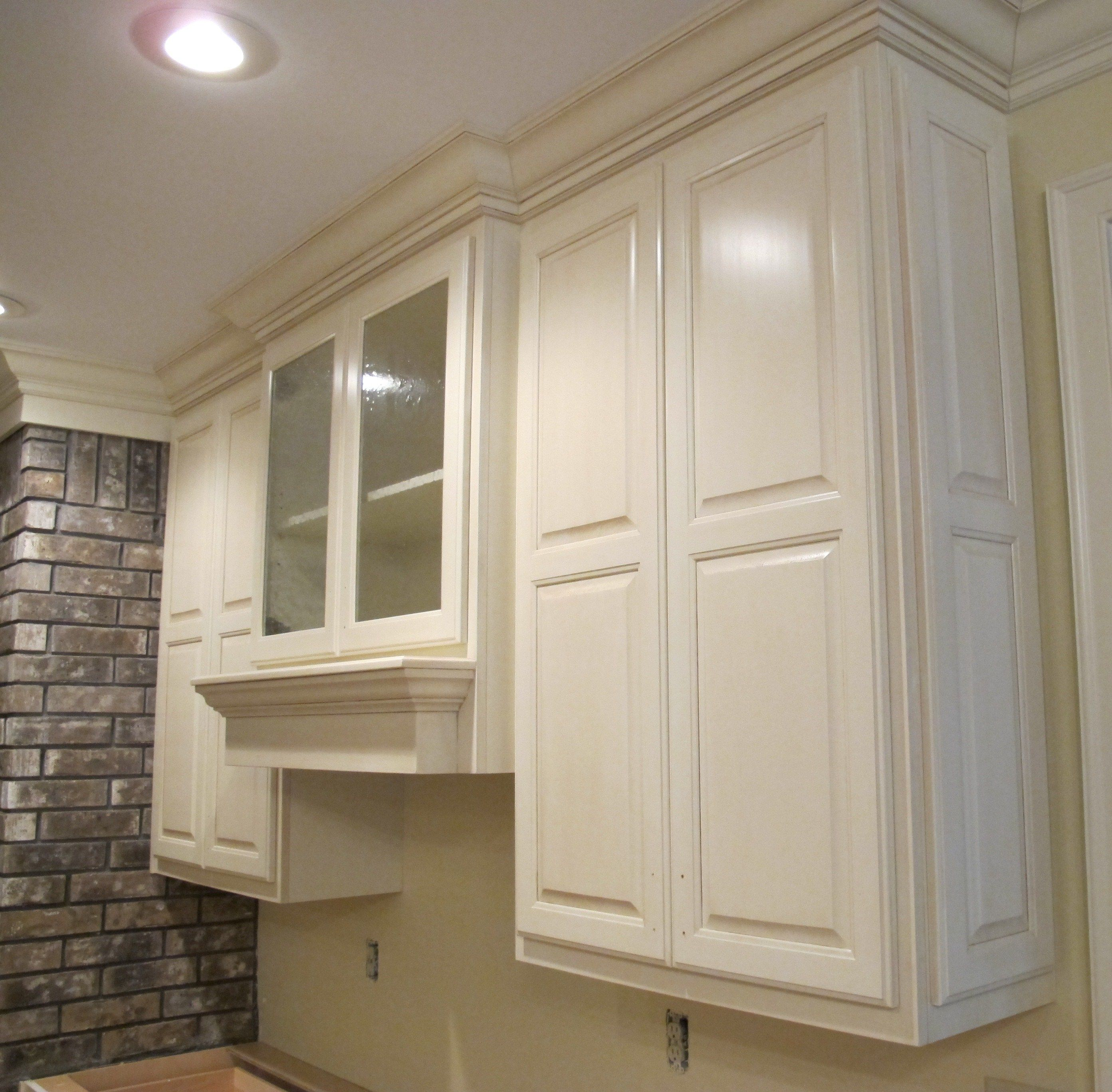 Upper Raised Panel Cabinet With Glass Double Doors Raised Panel Cabinets Farmhouse Kitchen Upper Cabinets