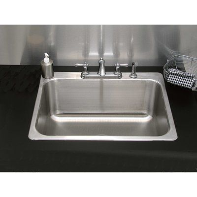 A Line By Advance Tabco Single Bowl Drop In Kitchen Sink Drop In Kitchen Sink Farmhouse Sink Kitchen Sink