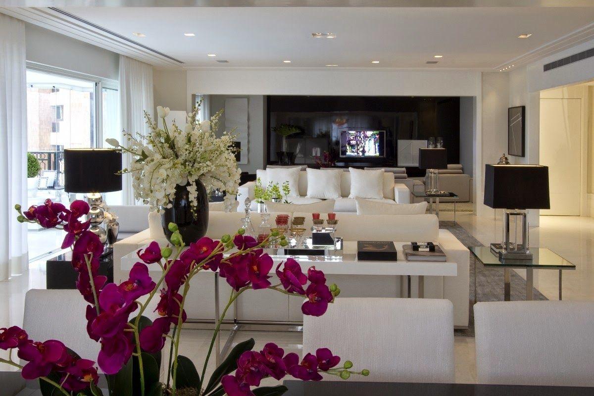 Apartamento moderno com decora o preto sala pinterest for Salas de apartamentos modernos