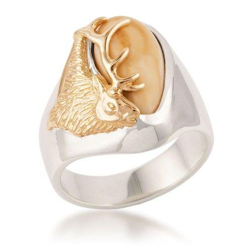 Mens Bridger Elk Ivory Ring Elk Ivory Ring Elk Ivory Women Rings