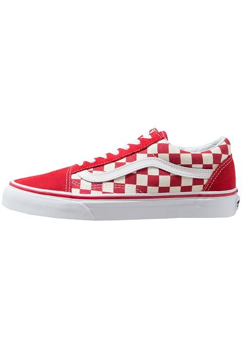 UA OLD SKOOL - Sneakers laag - racing red/white