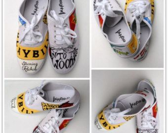 37e3ae25f94e1 Custom Women's Painted Shoes, Theater, Broadway, Playbill shoes ...
