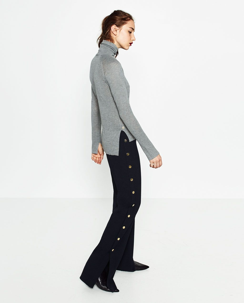 Image 1 of SWEATER WITH CENTRAL SEAM from Zara