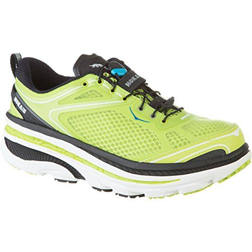 Hoka One One Bondi 3 Running Shoe  Mens Green GlowBlackWhite 115  Mens * Want additional info? Click on the image.(This is an Amazon affiliate link and I receive a commission for the sales)