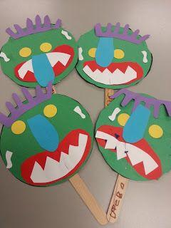 Prekpartner Big Green Monster Preschool Arts And Crafts Monster Activities