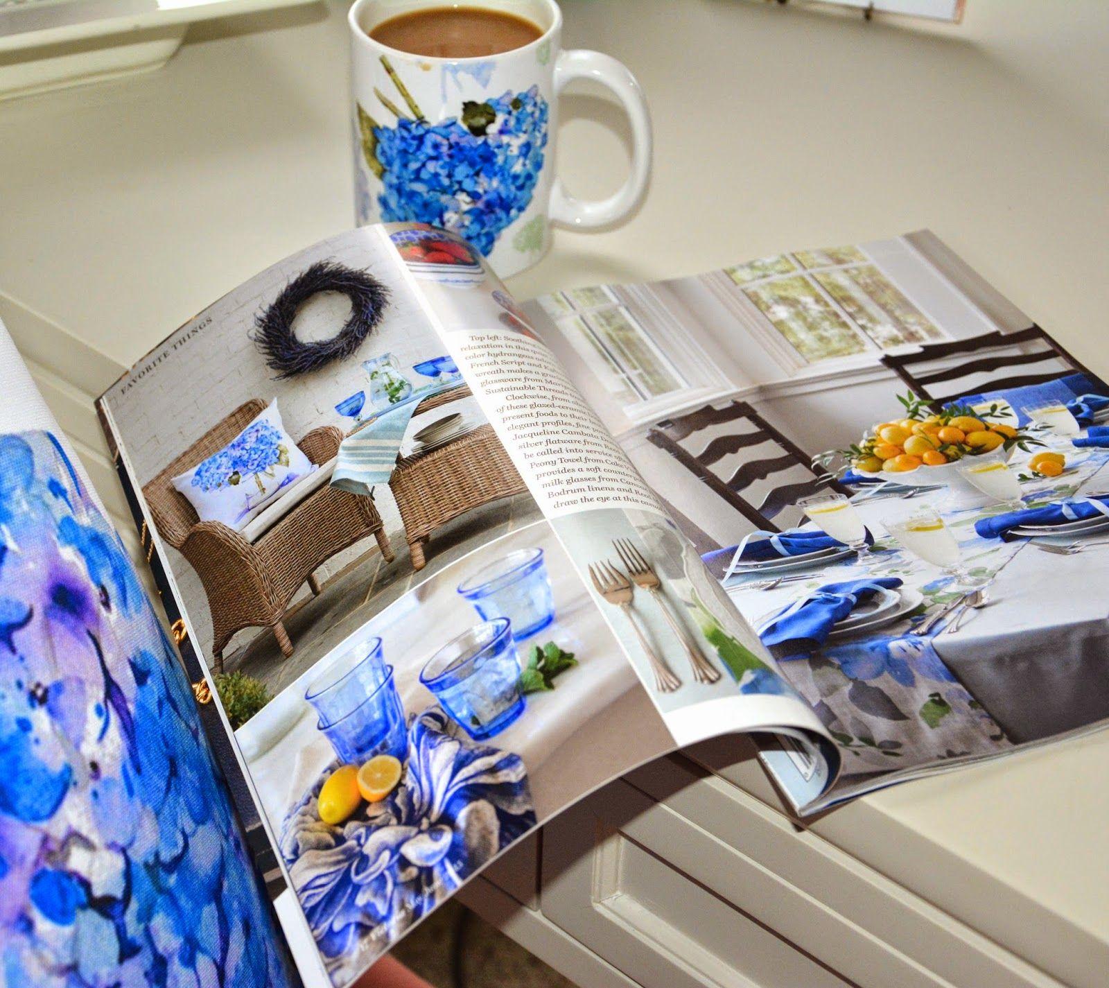 A SCRAPBOOK OF INSPIRATION: Dreamy Victoria Magazine & My Hydrangea pillow