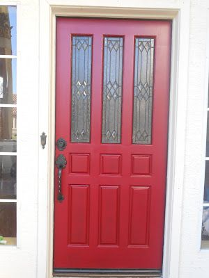 Front Door Red which is an Allen and Roth color from Lowe\'s | Curb ...