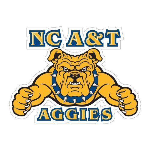 North Carolina A T Large Decal Nc A T Aggies Embroidery Logo
