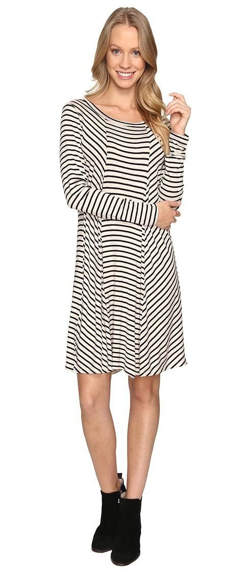 B Collection by Bobeau Indra Long Sleeve Dress (Stripe) Women's Dress - B Collection by Bobeau, Indra Long Sleeve Dress, M6427545S-964, Apparel Top Dress, Dress, Top, Apparel, Clothes Clothing, Gift, - Fashion Ideas To Inspire