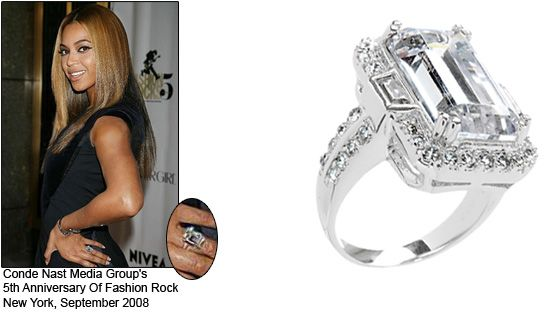 beyonces 18 carat emerald cut diamond ring cost 5000000 - Wedding Ring Cost