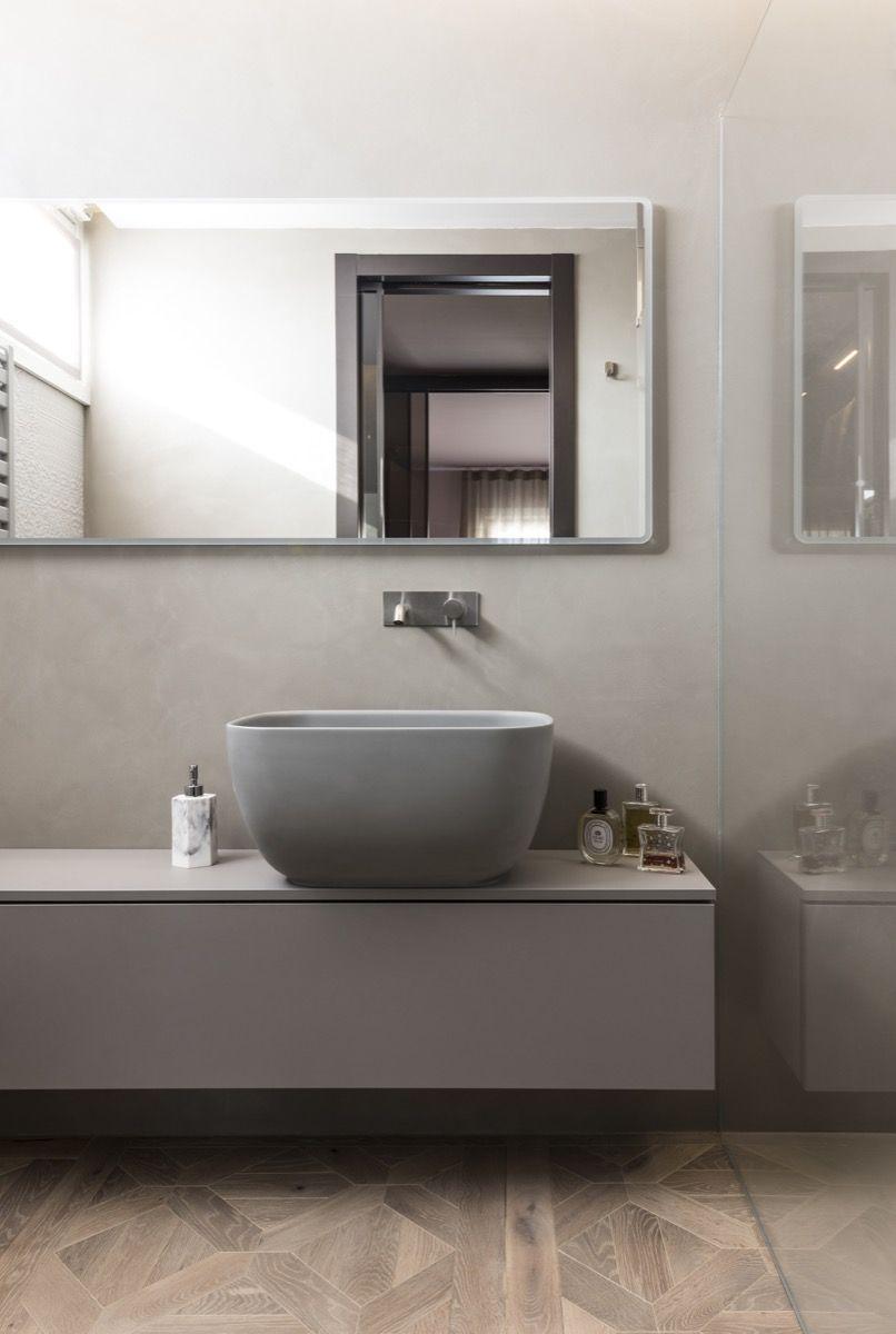 Badezimmer Hd Surface Designboden Designwand Singhammer Bodensysteme Mit Bildern Sichtestrich Design Estrich