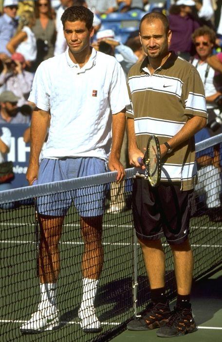 online store d6c88 fa41f 1995 - Pete Sampras (left)  Andre Agassi, US Open